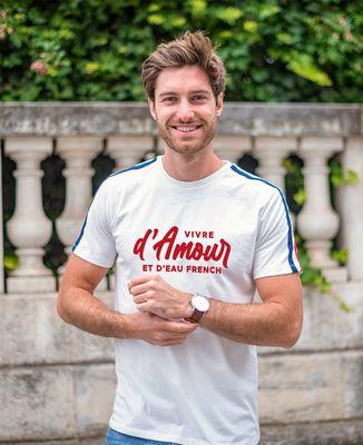 T-Shirt homme Filgood Vivre d'amour et d'eau french (effet velours)