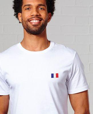 T-Shirt homme Drapeau brodé personnalisé