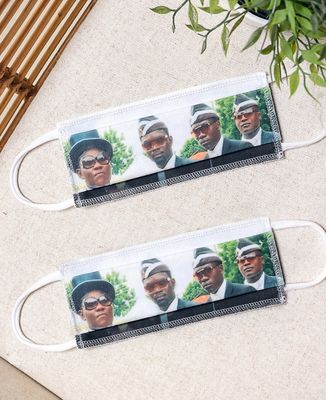 Masque de protection Masques Coffin Dance Meme en coton bio
