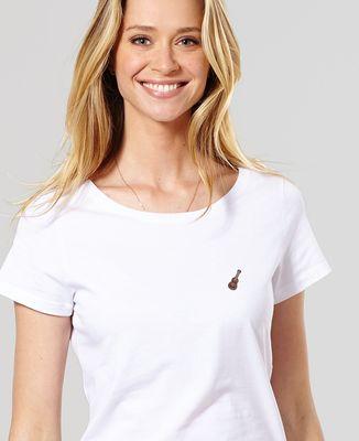 T-Shirt femme Ukulele (brodé)