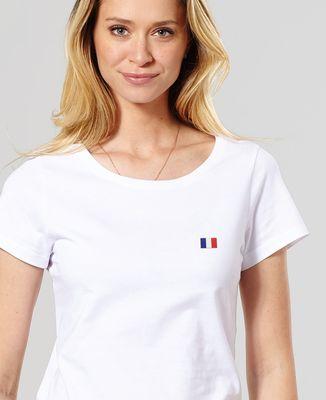 T-Shirt femme Drapeau brodé personnalisé