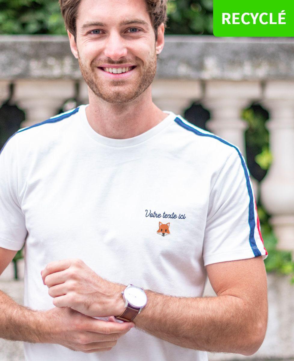 T-Shirt homme Filgood message et picto brodé personnalisé