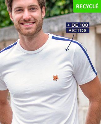 T-Shirt homme Filgood picto brodé personnalisé