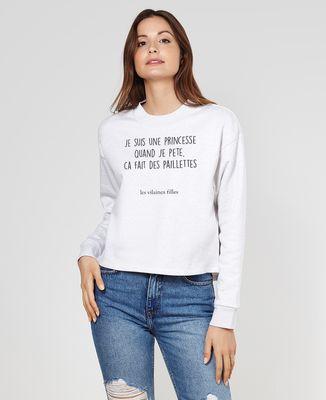 Sweatshirt femme Princesse qui pète