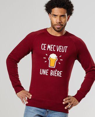 Sweatshirt homme Ce mec veut une bière
