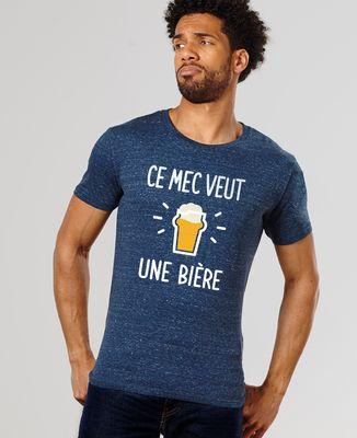 T-Shirt homme Ce mec veut une bière