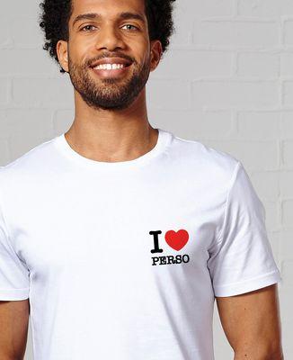 T-Shirt homme I love personnalisé