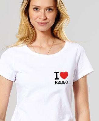 T-Shirt femme I love personnalisé