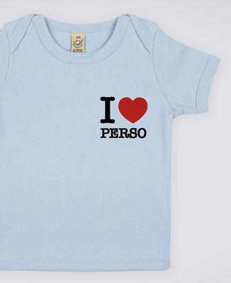 T-Shirt bébé I love personnalisé