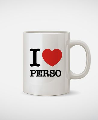 Mug I love personnalisé