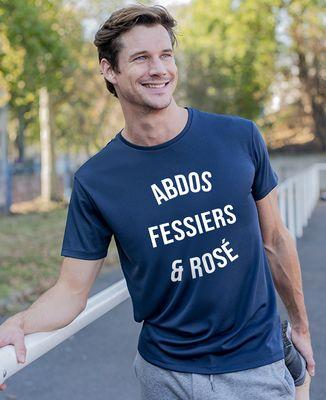 T-shirt sport homme Abdos, fessiers & rosé