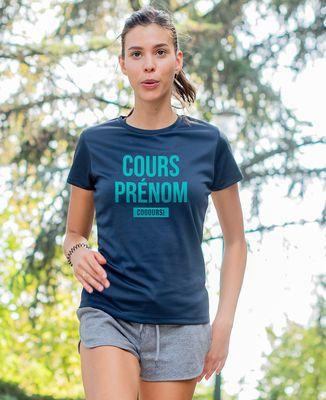 T-shirt sport femme Cours Prénom Cours personnalisé