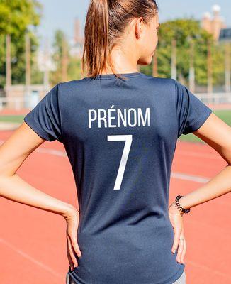 T-shirt sport femme Backnumber sport personnalisé