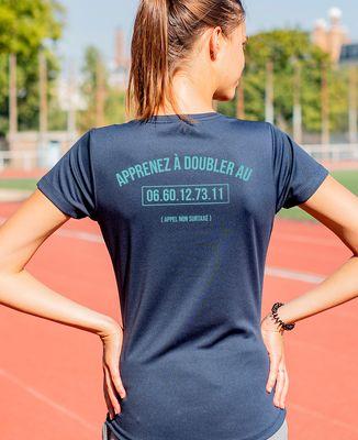 T-shirt sport femme Apprenez à doubler personnalisé