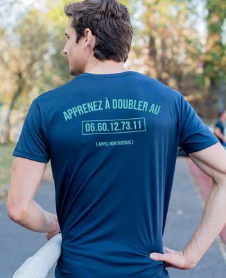 T-shirt sport homme Apprenez à doubler personnalisé