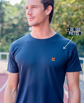 T-shirt sport homme Picto brodé personnalisé