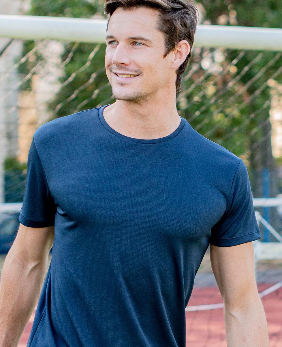 T-shirt sport homme Message et picto brodés personnalisé