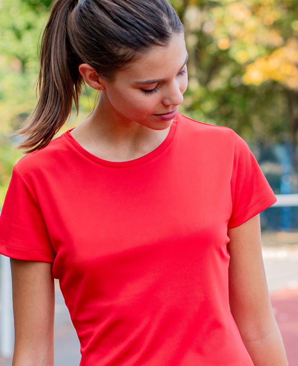T-shirt sport femme Message brodé personnalisé