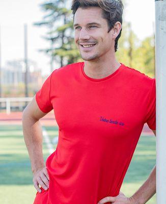 T-shirt sport homme Message brodé personnalisé