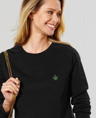 Sweatshirt femme CannaWeed (brodé)