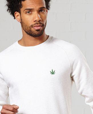 Sweatshirt homme CannaWeed (brodé)