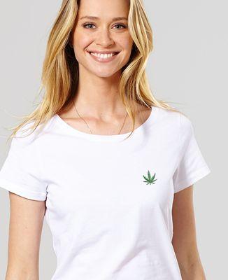 T-Shirt femme CannaWeed (brodé)