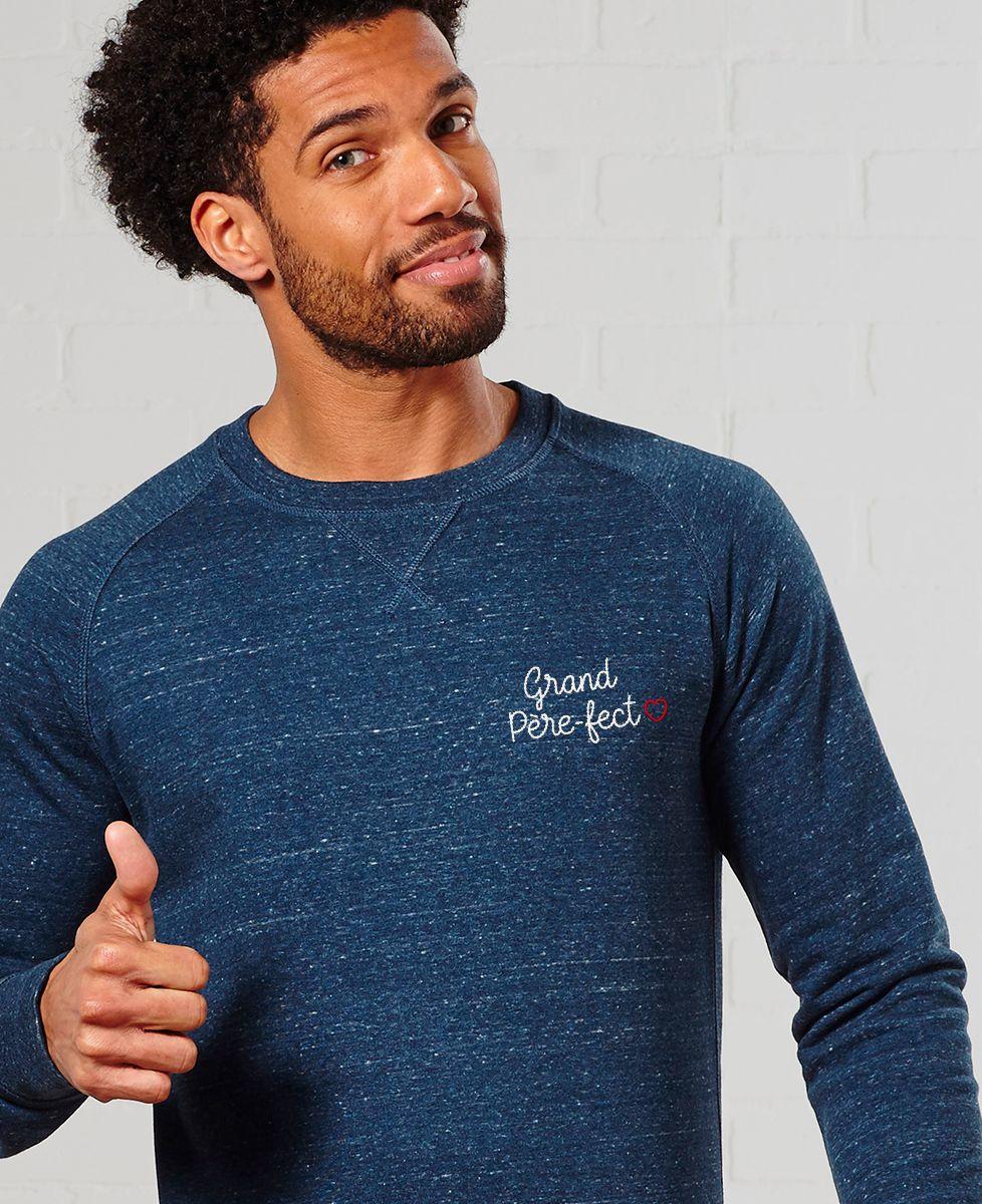 Sweatshirt homme Grand père-fect (brodé)