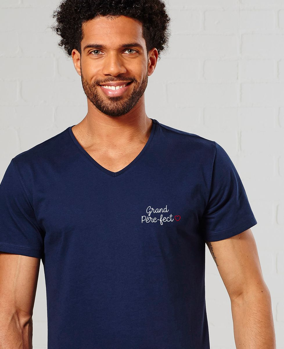 T-Shirt homme Grand père-fect (brodé)