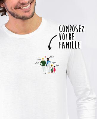 T-Shirt homme manches longues Famille personnalisée
