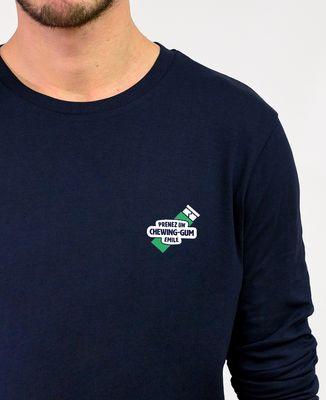 T-Shirt homme manches longues Prenez un chewin-gum Emile