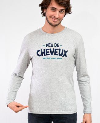 T-Shirt homme manches longues Peu de cheveux mais qu'ils sont beaux