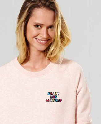 Sweatshirt femme Salut les moches (brodé)