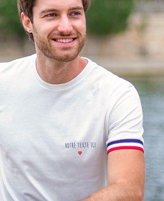 T-Shirt homme Filgood petit coeur brodé personnalisé