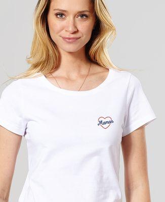 T-Shirt femme Maman coeur II (brodé)