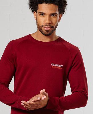 Sweatshirt homme Partenaire particulier (brodé)