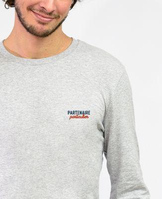 T-Shirt homme manches longues Partenaire particulier (brodé)
