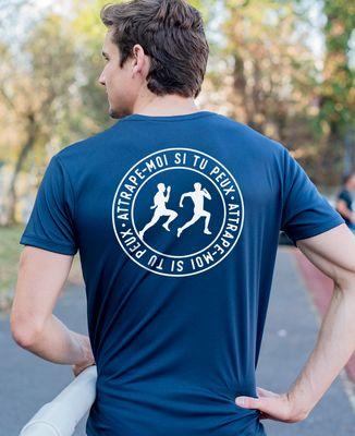 T-shirt sport homme Attrape moi si tu peux