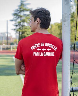 T-shirt sport homme Prière de doubler par la gauche
