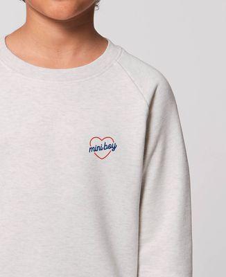 Sweatshirt enfant Mini boy coeur (brodé)