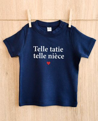 T-Shirt bébé Telle tatie telle nièce