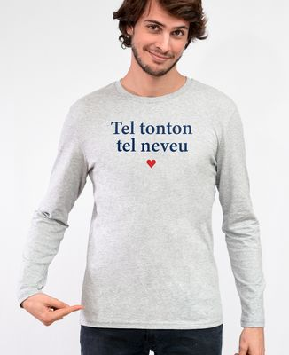 T-Shirt homme manches longues Tel tonton tel neveu