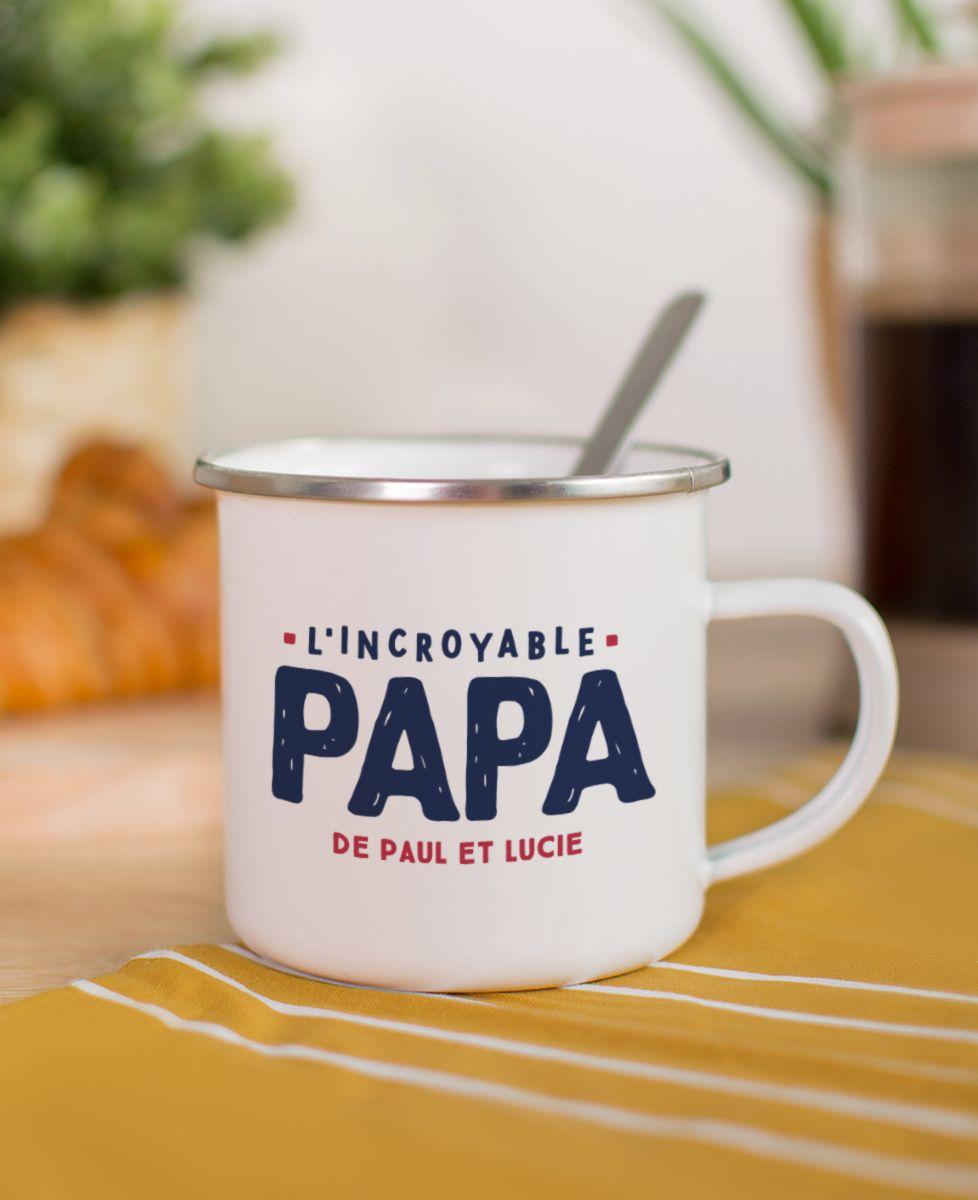 Mug L'incroyable papa personnalisé