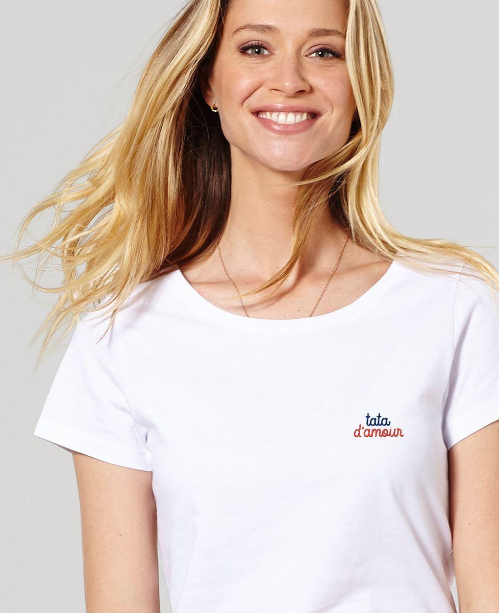 T-Shirt femme Tata d'amour (brodé)