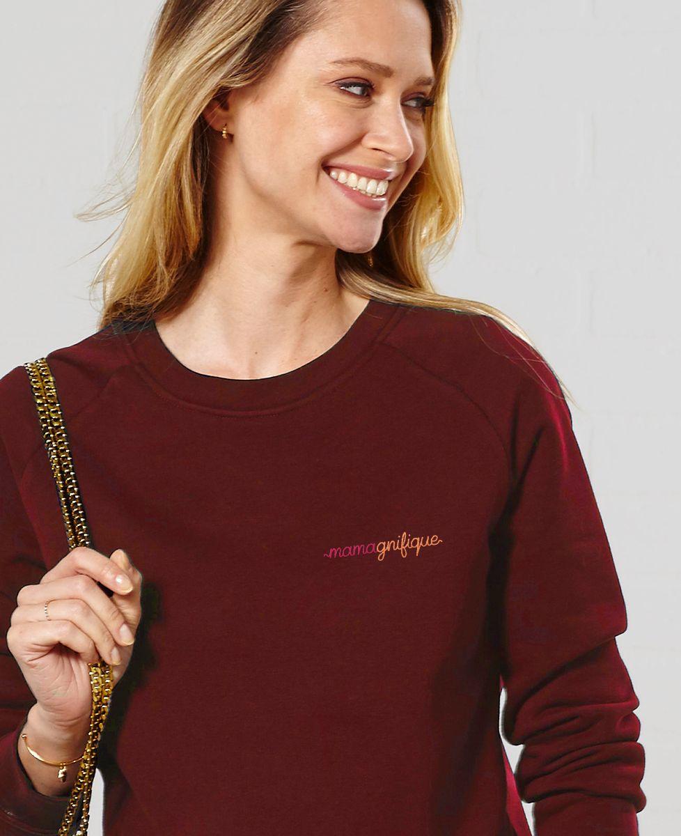 Sweatshirt femme Mamagnifique II (brodé)