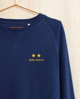 Sweatshirt homme Deux étoiles brodé personnalisé