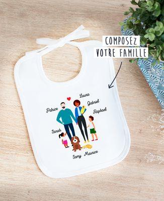Bavoir Famille personnalisée