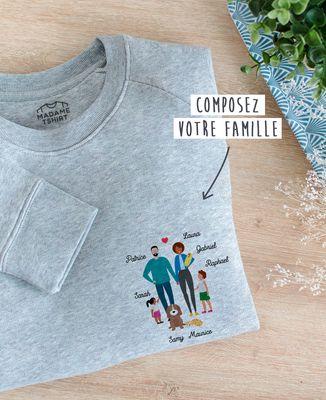 Sweatshirt femme Famille personnalisée