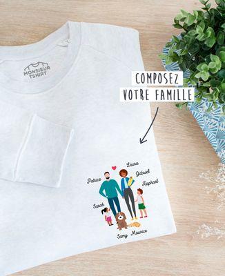 Sweatshirt homme Famille personnalisée