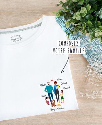 T-Shirt femme Famille personnalisée