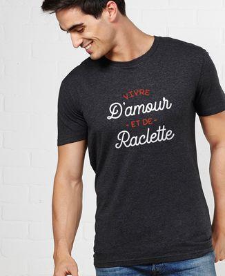 T-Shirt homme Vivre d'amour et de raclette